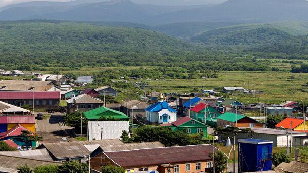 Поселок Курильск на острове Итуруп