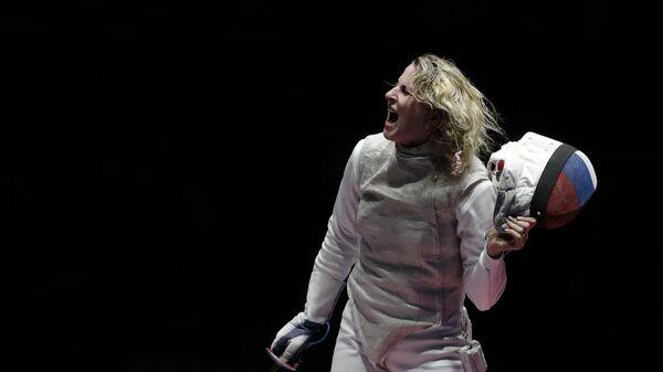 Рапиристка Инна Дериглазова на XXXI летних Олимпийских играх в Рио-де-Жанейро