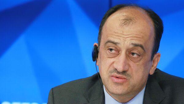 Турецкий посол в Москве Умит Ярдым во время пресс-коференции в Международном мультимедийном пресс-центре МИА Россия сегодня