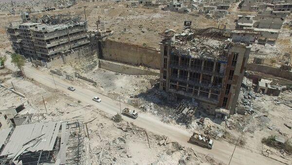 Путь снабжения города Алеппо с северной стороны, квартал Бани-Зейд