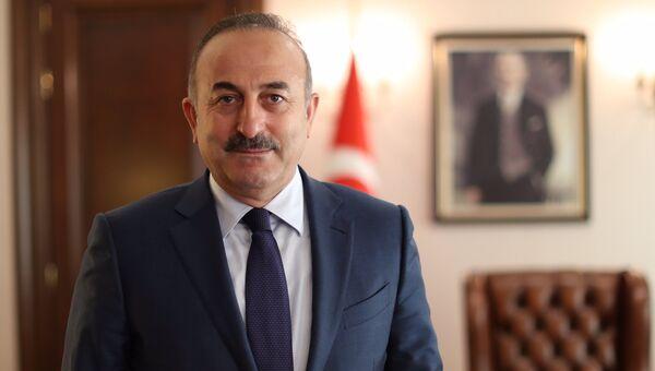 Министр иностранных дел Турции Мевлют Чавушоглу. Архивное фото