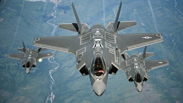 Американские истребители Lockheed Martin F-35 Lightning II. Архивное Фото.