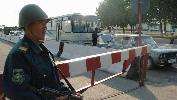 Сотрудник правоохранительных органов Узбекистана. Архивное фото