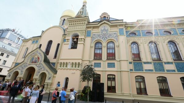 Открытие после реставрации здания исторического корпуса РЭУ им. Г.В. Плеханова и домового храма