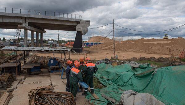 Строительство пятого пускового комплекса ЦКАД