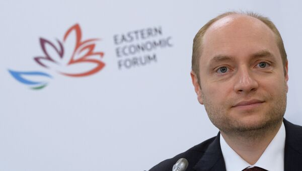Пресс-брифинг министра РФ по развитию Дальнего Востока Александра Галушки в рамках Восточного экономического форума