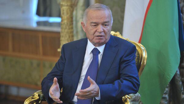 Президент Узбекистана Ислам Каримов во время встречи с президентом РФ Владимиром Путиным в Кремле