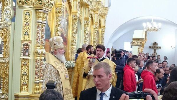 Патриарх Московский и всея Руси Кирилл на Сахалине