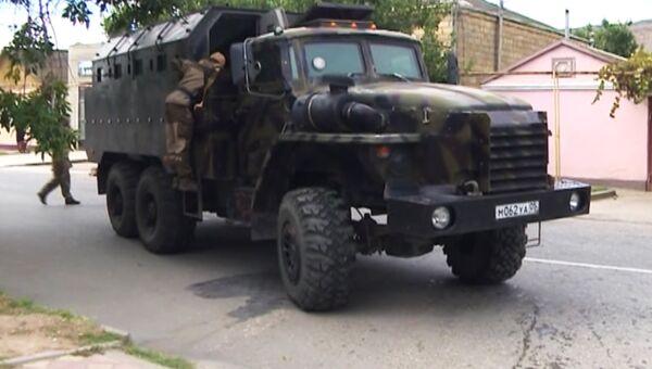 Контртеррористическая операция в Избербаше. Кадр из видео