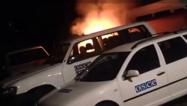 Поджог автомобиля ОБСЕ