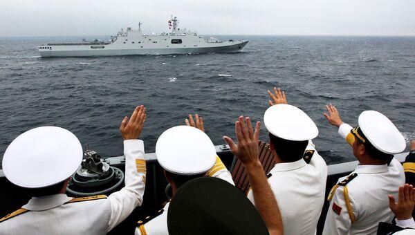 Российско-китайские учения Морское взаимодействие во Владивостоке. Архивное фото