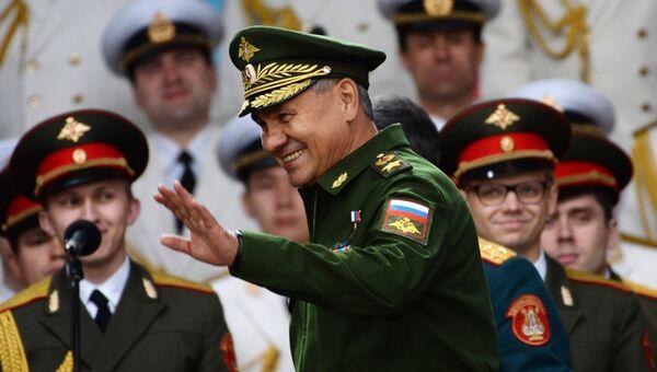 Министр обороны РФ Сергей Шойгу на закрытии Международного военно-технического форума Армия-2016