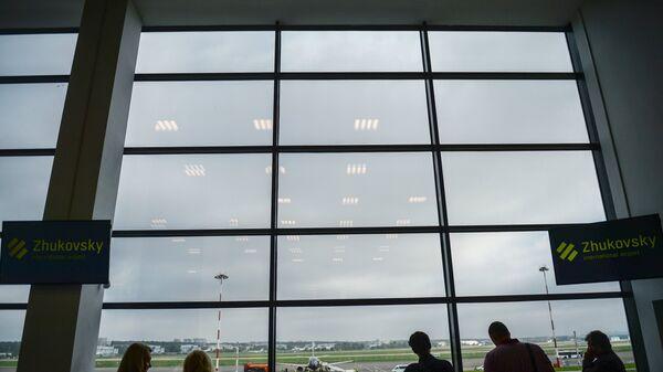 Прибытие самолета авиакомпании Белавиа первого рейса в аэропорт Жуковский. архив