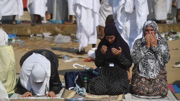 Паломники во время хаджа в Саудовской Аравии. Архивное фото.