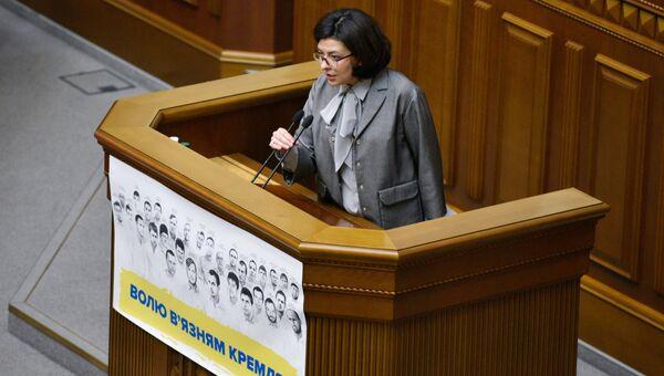 Заместитель председателя ВРУ Оксана Сыроед на заседании Верховной Рады Украины в Киеве. Архивное фото