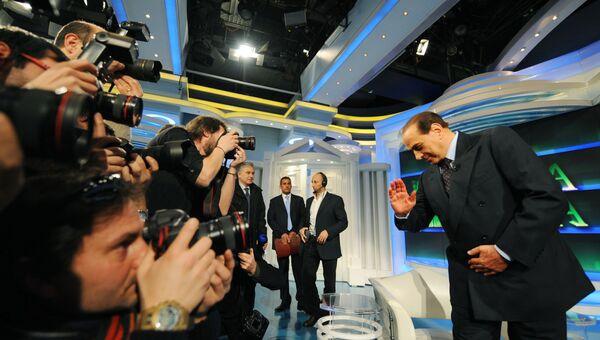 Сильвио Берлускони на итальянском телевидении