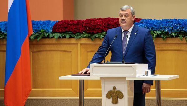 Глава Коми Сергей Гапликов во время церемонии инаугурации. 22 сентября 2016