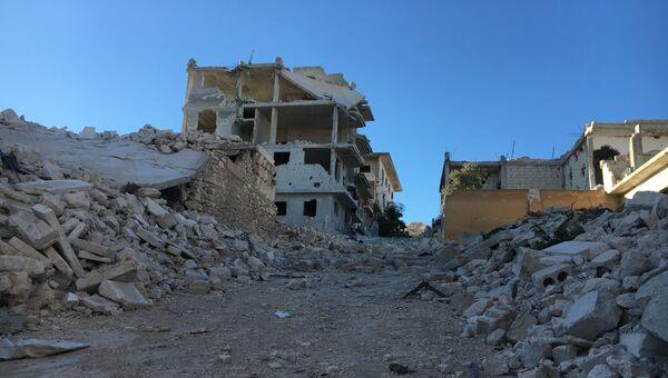 Разрушенные улицы в Сирии. Архивное фото
