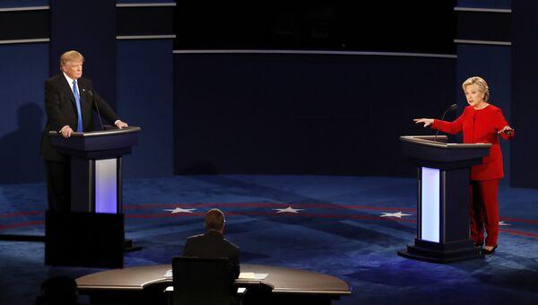 Хиллари Клинтон и Дональд Трамп. 27 сентября 2016 год