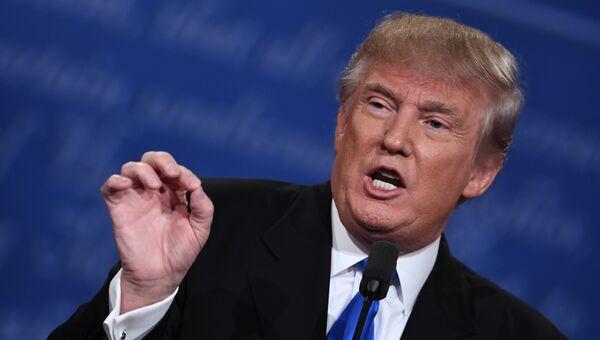 Кандидат в президенты США Дональд Трамп на дебатах. Архивное фото