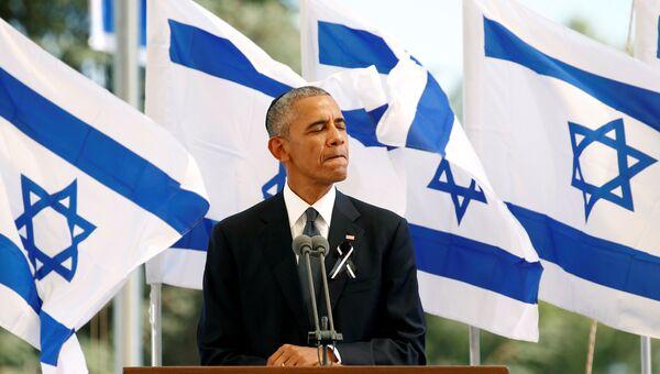 Президент США Барак Обама на похоронах экс-президента Шимона Переса в Иерусалиме. 30 сентября 2016
