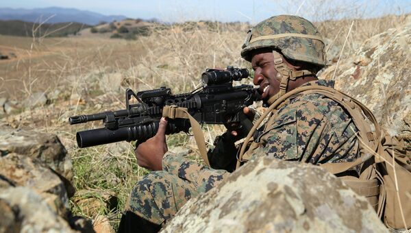 Американский военнослужащий во время учений Iron Fist. Архивное фото