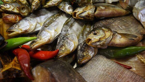 Копченая рыба на 18-й Российской агропромышленной выставке Золотая осень на территории ВДНХ