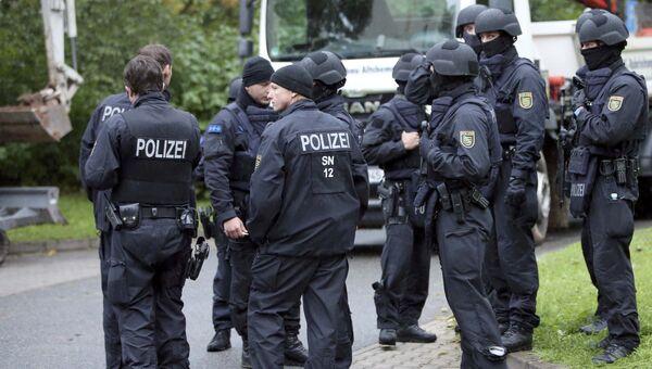 Сотрудники немецкой полиции в Хемнице. Архивное фото