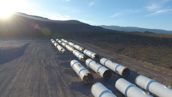 Испытательная площадка Hyperloop One. Архивное фото
