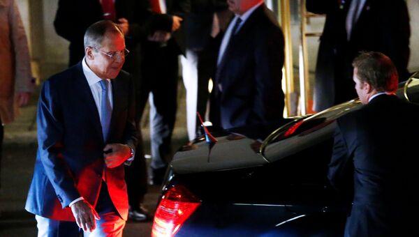 Глава МИД России Сергей Лавров после переговоров в Лозанне