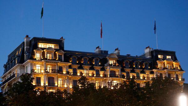 Здание отеля Beau Rivage Palace в Лозанне, где прошла встреча по Сирии