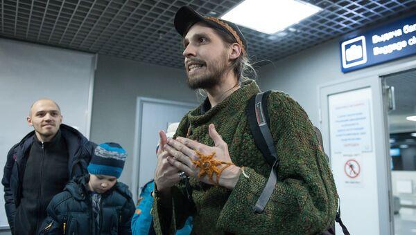 Гражданин России Константин Журавлев захваченный боевиками в Сирии в 2013 году, в аэропорту Томска