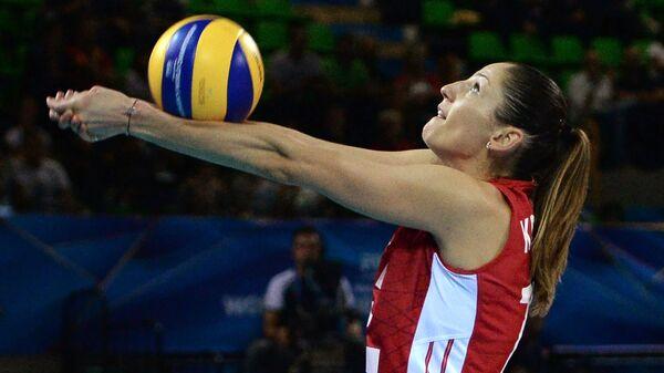 Игрок сборной России Татьяна Кошелева