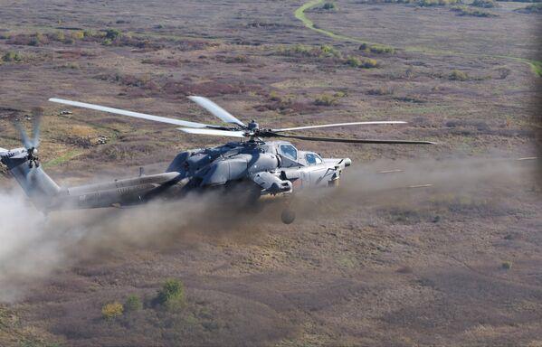 Учения вертолетного полка в Кореновске