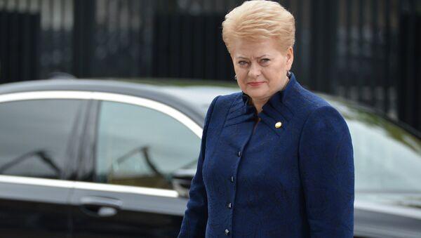 Президент Литвы Даля Грибаускайте на саммите НАТО в Варшаве