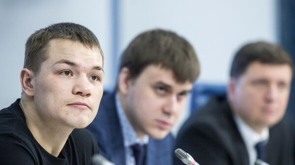 Пресс-конференция боксера Федора Чудинова