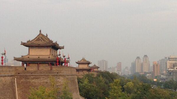 Город Сиань в провинции Шэньси