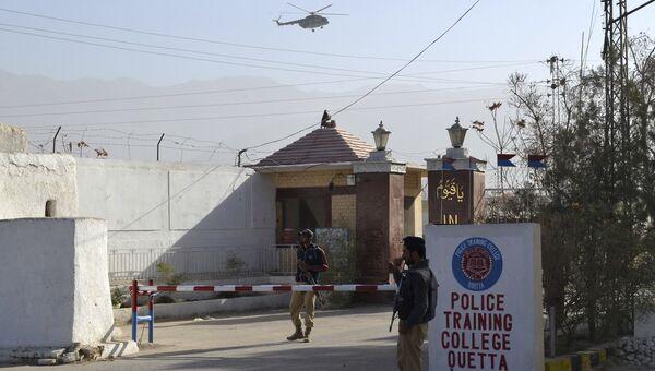 Полицейская академия в пакистанской Кветте, подвергшаяся нападению боевиков. Архивное фото