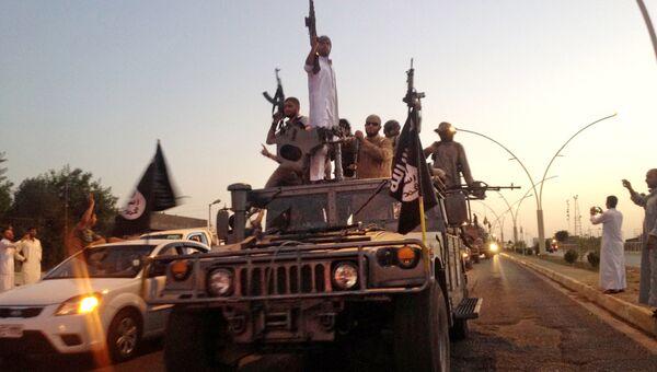 Боевики террористической группировки Исламское государство. Архивное фото