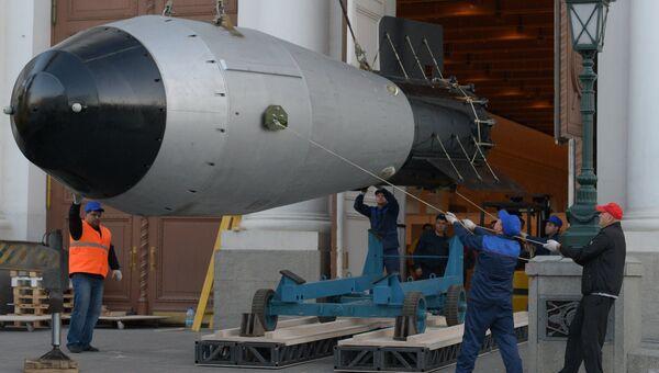 Макет термоядерной Царь-бомбы, испытанной 30 октября 1961 года