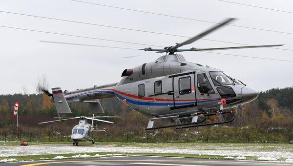Презентация легкого многоцелевого двухдвигательного вертолета Ансат . Архивное фото