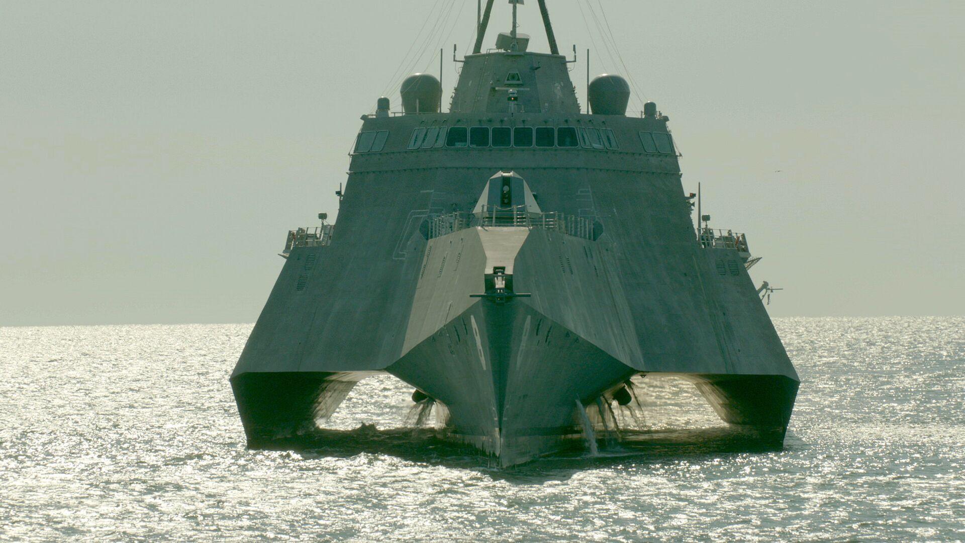 Корабль прибрежной зоны ВМС США LCS-6 Montgomery (Монтгомери)  - РИА Новости, 1920, 12.01.2021