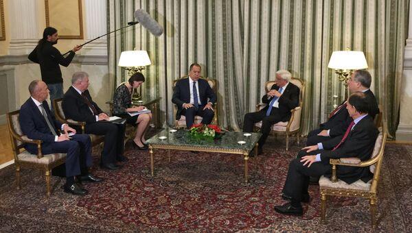 Встреча министра иностранных дел РФ Сергея Лаврова и президента Греции Прокописа Павлопулоса в Афинах