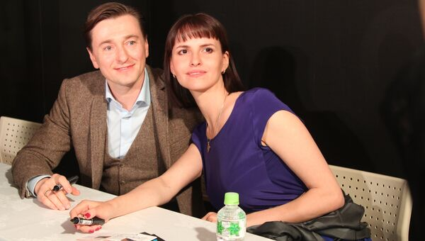 Российский актер Сергей Безруков и режиссер Анна Матисон на 29-м Токийском международном фестивале