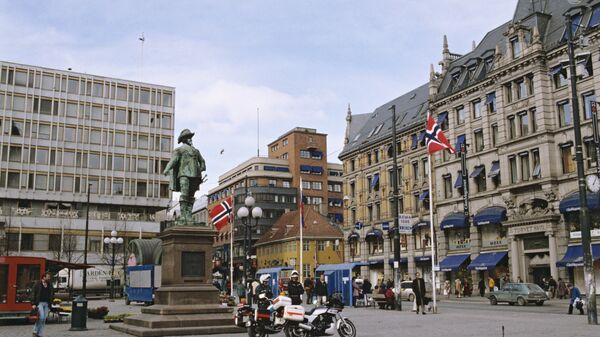Памятник королю Дании и Норвегии Кристиану IV на площади Сторторгет
