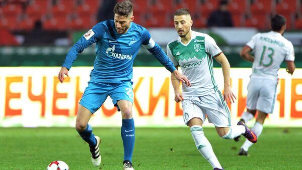 Игрок ФК Зенит Хави Гарсия (слева). Архивное фото
