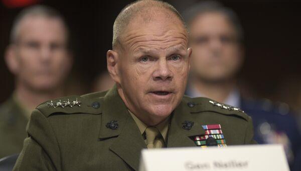 Командующий корпусом морской пехоты США генерал Роберт Неллер в Вашингтоне. Архивное фото