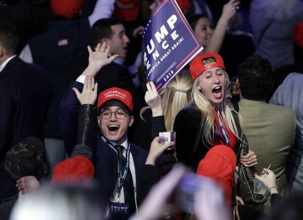 Сторонники кандидата в президенты США от Республиканской партии Дональда Трампа