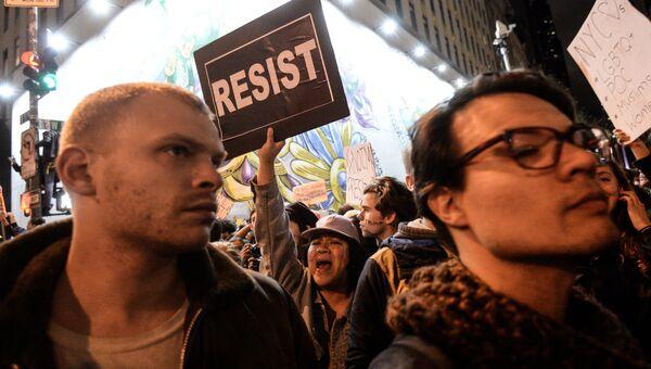 Акция протеста против Д. Трампа в Нью-Йорке. Архивное фото