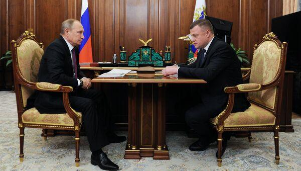 Президент РФ Владимир Путин и губернатор Тамбовской области Александр Никитин